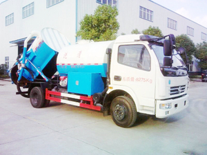 Cleaning-vacuum Truck Pressure Water Clean Truck Two Tank 2.74+2.94m3