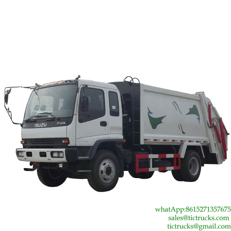 12m3 4x2 240hp ISUZU Waste Management Garbage Truck