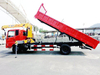 Dongfeng 6- 8 Ton Crane Truck with Tipping Cargo