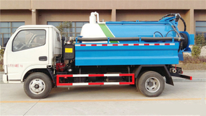 Vacuum Tanker with Pressure Water Clean Truck 1.5+1.8m3
