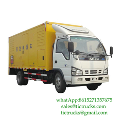 ISUZU 100kW 50hz 3 Phase 220V Generator Truck for Sale