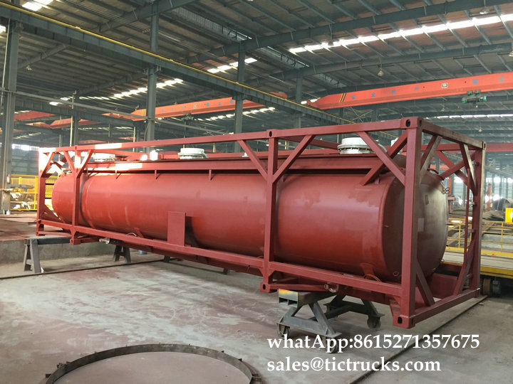 Custermizing HCL 32-35% Hydrochloric Acid Tank for Trailer Portable ISO Tank Containers
