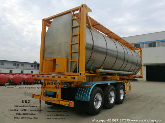 Phosphoric Acid Tank Container Swap Tank Insulated with Stainless Steel Steam Heating Pipe (Road Transport by 30FT ISO Container Trailers)