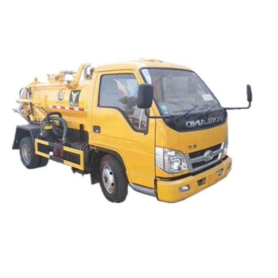Septic Tank Truck Forland 3000 Liters Mini Fecal Suction Truck Vacuum Tanker Sewer Cleaner