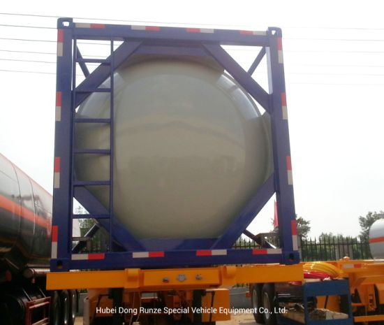 30FT ISO Tank Container for Road Transport LPG Gas Propane, Liquid Sulfur Dioxide, Lquid Gas, Isobutane, Dimethyl Ether 30cbm
