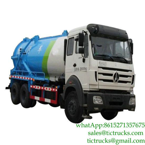 Beiben Septic Vacuum Tank Truck Offroad 18000L Sewage Sludge Tank Body Truck Mounted