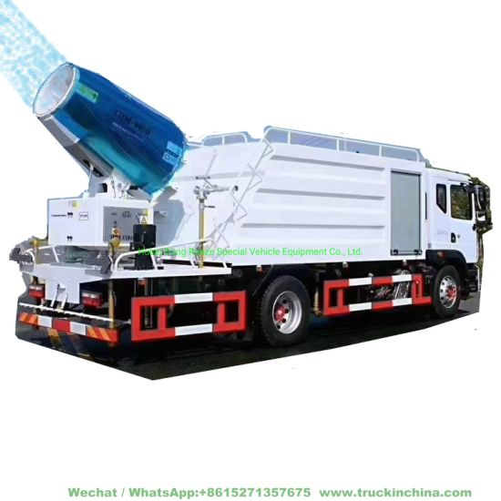 10 Tons Multifunctional Dust Suppression Vehicle Disinfection Pesticides Spray Fog Cannon Tanker (60M -80M Cannon)