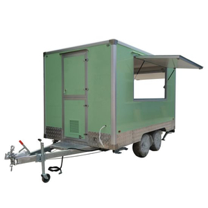 New Mobile Food Trailer Pastel Green Mobile Food Drawbar Customized