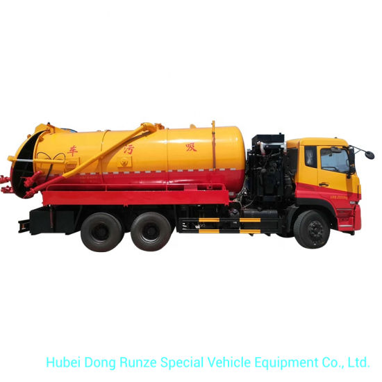 20000L Vacuum Sewage Tanker Truck with High Pressure VAC Pump Water Ring Type 30cbm/Min Suction Cesspool Sludge Sewer Waste Vacuum Suction