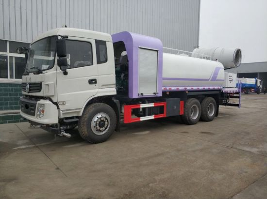 Dongfeng 6X4 Dust Suppression Vehicle, 15m3 Water 50/60/80/100 Meters Fog Disinfection Tanker