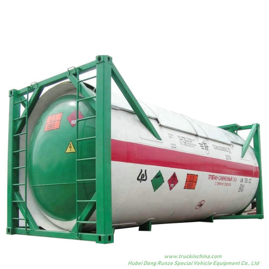 20FT ISO LPG Tank Container for Liquid Propane, Cooking Gas, Dem, Isobutane 24kl -40kl Custermizing Container Trailer Mounted