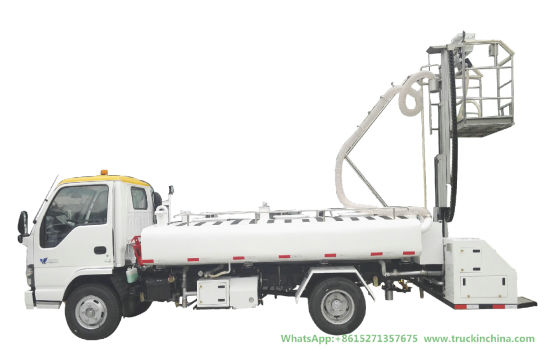 Isuzu Lavatory Service Truck Clean Water Tank 1400L Sewage Tank 2360L (Aircraft Sewage Tanker With Vacuum Pump Electric Diesel Vehicle)