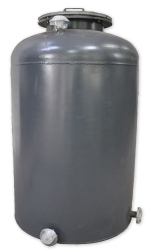 1000L Vertical Flat Bottom Steel Lined Plastic LLDPE Tank for Storage HCl (max 35%) , Naoh (max 50%) , Naclo (max 10%)