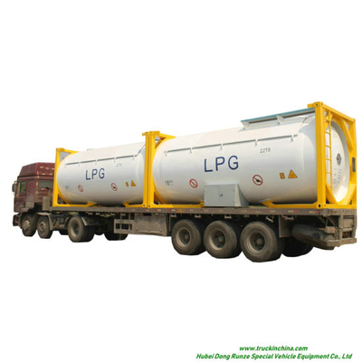 LPG ISO T50 Tank Container 20FT, 30FT, 40 FT Portable or Road Trannsport Un1075 (DEM, Isobutane, cooking gas) 24kl, 42kl