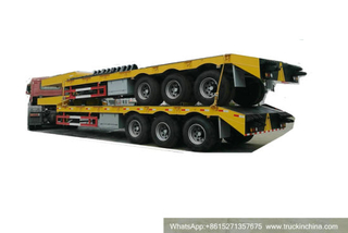 3 Germany BPW 14t Axles Low Bed Trailer 60 Tons Customizing with 20FT Container Locks (12.8*3*3m) CIF Momombasa