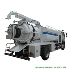 Foton Sewer High Pressure Jetting Combined Vacuum Pump Suction Truck (10m3 -12 m3 Right Hand Drive EURO 5 Sewage Cleaning Tanker)