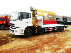 Dongfeng 8X4 Flatbed Truck Mounted 12t Crane Sq12sk3q for Sale