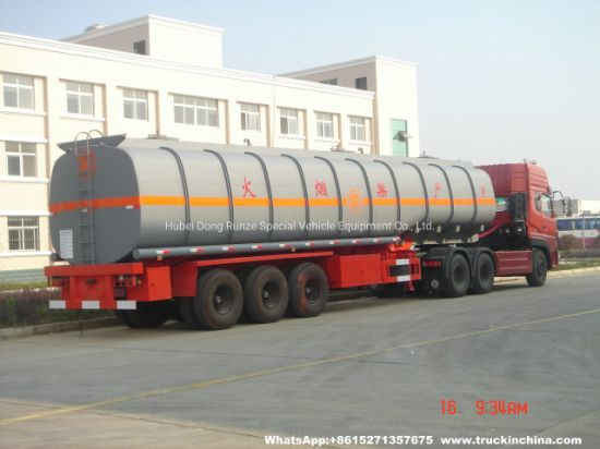 Customizing 60t Hydrochloric Acid Tank Trailer (Steel Lined Rubber plastic LLDPE Chemical Liquid Tanker)