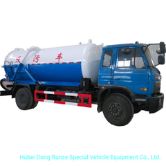 Vacuum Sewage Suction Tanker Truck Tank Effective Capacity 10500 (L) Carbon - Stainless Steel Rhd or LHD 4X4 - 4X2