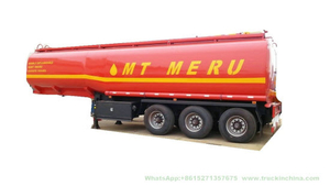 Steel Fuel Tanker Semi-Trailer 3 Axles Oil Tank Capacity 42000L to 47000L (Diesel) with BPW Axles Air Spring Single Tyer 385/65r22.5
