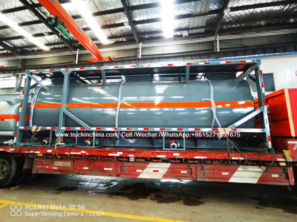 30FT LLDPE Lined Tank Container For Hydrochloric Acid HCL UN1789 ship to Vietnam