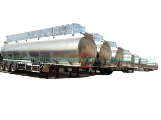 Aluminum Alloy Tanker Trailer 40kl for Diesel, Oil, Gasoline, Kerosene Road Transport with 3 BPW Axles
