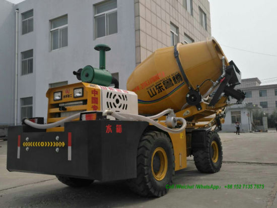 Self Loading Concrete Transit Mixer 1.2cbm, 1.6cbm, 2.0cbm, 2.4cbm (Self Loading Cement Mixer Truck With Air Conditioning Self Loading Automatic Weighing Scale)