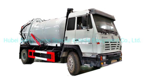 Steyr Vacuum Sewage Suction Tanker Truck Tank 12500 (L) Carbon Steel Rhd or LHD with Pto Vacuum Pumps for Vacuum Suction Cesspool Sludge Sewer Waste