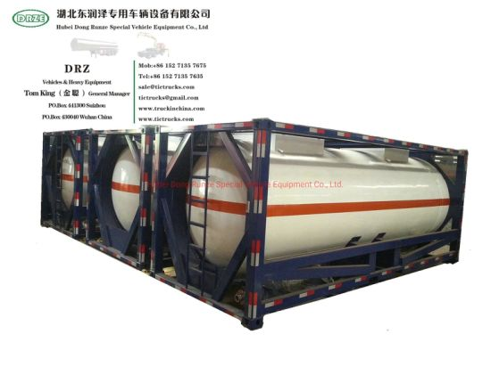 ISO 20feet Stainless Steel ISO Tank Container (For Edible Oil Liquid Food Alcohol Chili Sauce Transport )