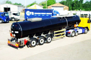 Hot Diesel Burner Heaed Bitumen Tanker Trailer Withtri-Axle