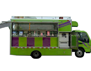 JAC Mobile Food Truck Offer Chocolate Shaved Ice Smoothie (Mobile Dining Car)