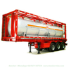 Customized 30FT Yellow Phosphorus Tank Tank Container ISO Stainless Steam Heating Jacket 25000liters