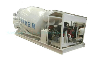 Concrete Mixer Tank Skid Mounted for Ship / Train Tunnels 3-12cbm (Max Skid Concrete Mixer -12000liters Tank Body