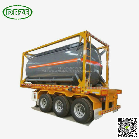 UN 1790 ISOTANK For HYDROFLUORIC ACID And Sulfuric Acid Chemical Mixtures , (20FT Tank Conainer)Liquid NaCLO 18,000Liers -20,000Liers HF ( 48%),H3PO4 (10%-85%)