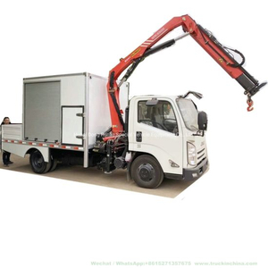 Customized Jmc Rescue Vehicle Workshop Truck with Sany Palfinger Spk6500 Crane 3.3 Ton