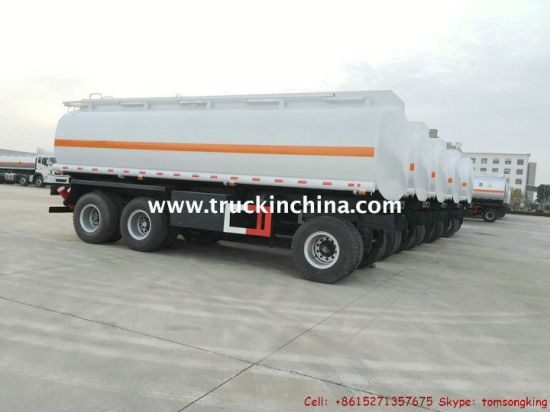 2-3 Axles 10t-25t Drawbar Tank Dolly Trailer (Tractor Truck Tow Full for Fuel/Water/Oil/Diesel Trailer Pup Tanker)