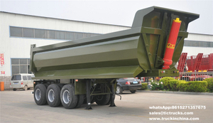 3 axles U-shape Rear Dump Semi-trailer 24cbm ,35CBM