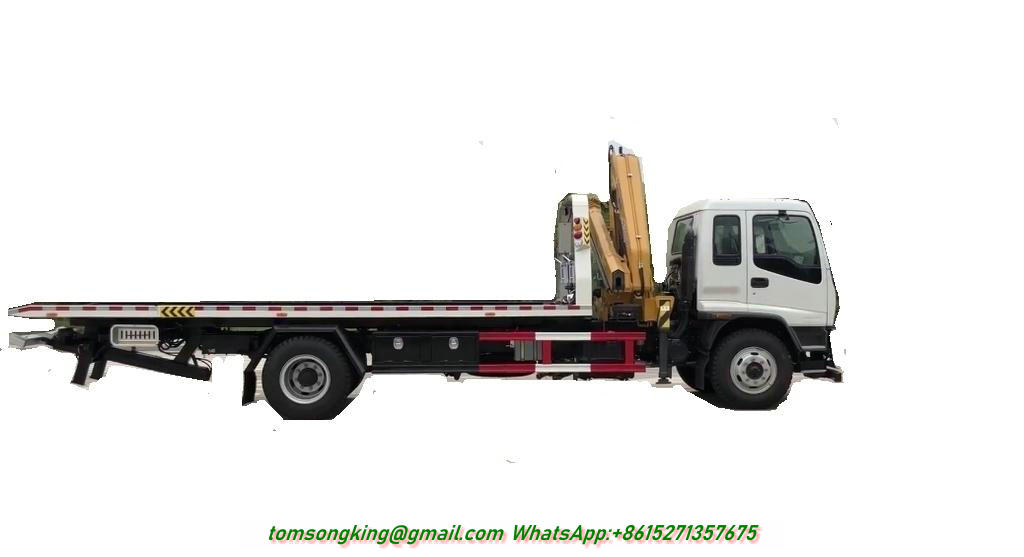 ISUZU Recovery Truck Mounted with Knuckle XCMG 5 Ton Crane