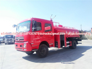 4x4 AWD Off Road Water tanker Truck With Fire pump Euro 3-6