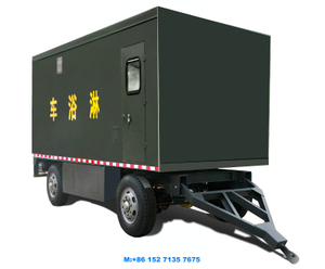 Military Mobile Showers Trailer Customizing Tow Draw Bar Dolly