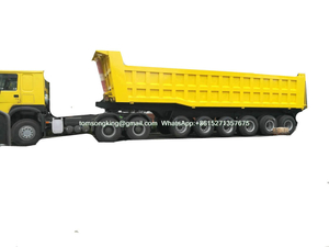 6 Axles Tipper Trailer For 100 Ton Mangenese And Bouxite Ores Transport