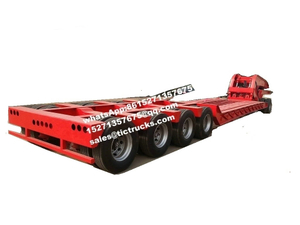 Hydraulic Detachable Gooseneck Lowbed Trailer 4 Axle ,5 Axles ,6 Axles Front Loading With Removable Dolly Trailer