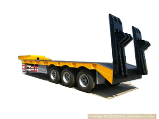 T9400TDP 3 Axles Low Bed Trailer 60 Tons Customizing with 20ft Container Locks