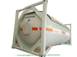 NH3 ISO Tank Container 20FT 24000L Anhydrous Liquid Ammonia IsoTank