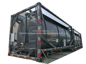 20FT UN1789 Hydrochloric Acid ISO Tank Container 21KL -22KL Steel Tank Lined LDPE 16mm