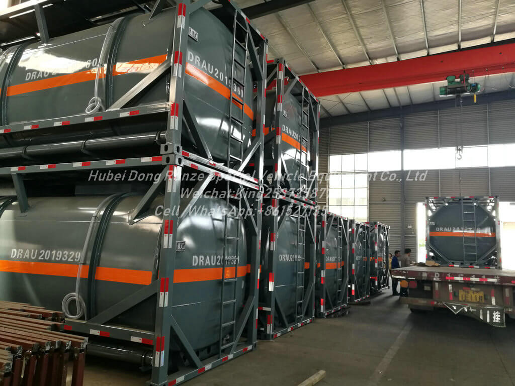 Hydrochloric-Acid-ISO Tank-12KL- Container Lined LDPE